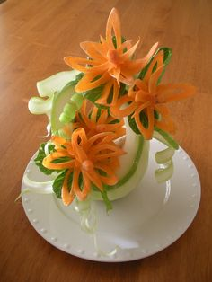 Art of Fruit and Vegetable Carving Part 27
