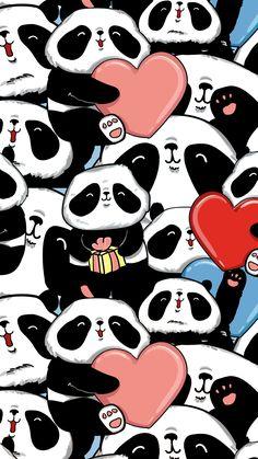 panda, wallpaper, and background resmi Panda Wallpaper Iphone, Cute Panda Wallpaper, Cute Wallpaper For Phone, Bear Wallpaper, Animal Wallpaper, Pattern Wallpaper, Print Wallpaper, We Bare Bears Wallpapers, Panda Wallpapers