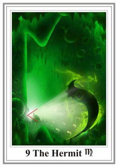 IX.The Hermit - Tarot New Aeon (Таро Нового Эона) by Svetlana Kryon Tattoo Prague, Sacred Art Tattoo, The Magician Tarot, Intelligent People, Close Encounters, Major Arcana, Oracle Cards, Tarot Cards, Rock Art