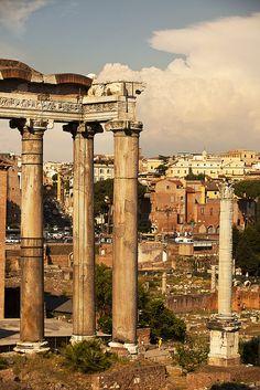 Roman Forum ruins   Rome, Italy