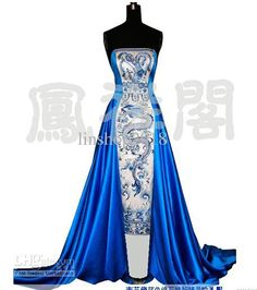 Wholesale Wedding Dress - Buy High Quality Strapless Dragon Robe Wedding Dress, $1026.18 | DHgate