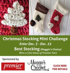 Maggie's Crochet · Christmas Stocking Free Pattern