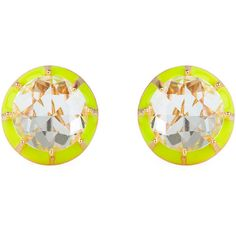 Lele Sadoughi Canary Yellow 'Spotlight' Earrings (100 CAD) ❤ liked on Polyvore featuring jewelry, earrings, canary yellow, earring jewelry, yellow earrings, yellow jewelry and lele sadoughi