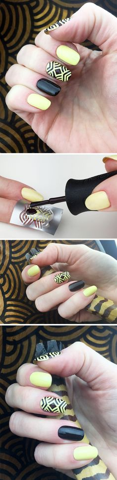 "Nail Stencils design ""African style"" #nailart"