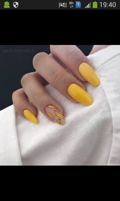 2019 Beautiful Nails to Rock Rock Nail Art, Rock Nails, Gel Nails, Acrylic Nails, Glitter Nails, Encapsulated Nails, Colorful Nail Designs, Yellow Nails, Artificial Nails
