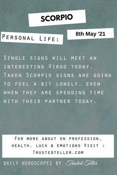 Scorpio Horoscope Today
