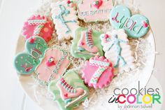 How about an Ice Skating party?! I love the... - Cookies In Color