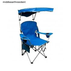 Camping Folding Outdoor Canopy Beach Sun Seat Camp Chair Shade Patio Portable #Quikshade