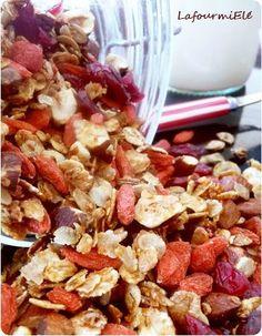 Red #granola aux baies de #goji et #cranberries