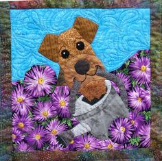 Airedales can be so helpful!from the 2012 ADT Rescue Fundraiser Quilt.  Donate at  www.airedalerescue.net/2012quilt/quiltpage4.htm#
