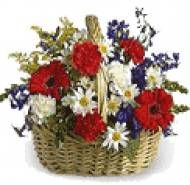 Rose With Gerbera Basket.  Available at : www.puneflowersdelivery.com/flowers/womens-day-flowers-to-pune.html
