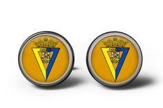 Cádiz CF Cufflinks I Football Cufflinks Cadiz, Spanish, Cufflinks, Football, Gifts, Men, Accessories, Soccer, Futbol