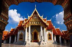 Frame - Location : Wat Benchamabopit Dusitwanaram Ratchaworawihan  Bangkok, Thailand