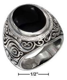 $125 Sterling Silver & Black Onyx 41162
