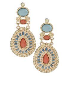 ASOS Pastel Stones Tiered Drop Earrings (+)                                                            $27.70