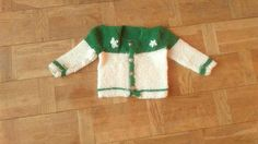 Green Floral Wool Knit Sweater Years Old Baby Knitwear Chunky Green White Cardigan With Flowers Christmas Jumper Central Bank Peru White Cardigan, Green Sweater, 3 Years Old Baby, Central Bank, Christmas Jumpers, Button Flowers, Vintage Children, Baby Knitting, Peru