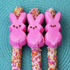 You can put anything on a candy-coated pretzel rod. Choose Peeps. | The 22 Best Ways To Eat Easter Peeps