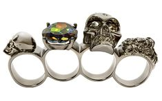 Alexander McQueen / Knuckle Duster, Silver - WANT - also one of the clutches please & thankyou! ;) lol LOVE 'em!