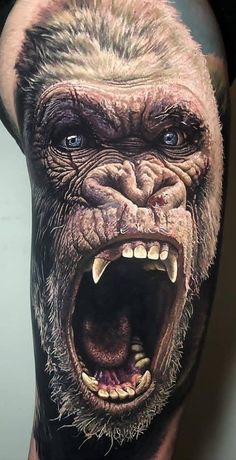Beast You are in the right place about Tattoo Style tatuajes Here we offer you the most beautiful pictures about the Tattoo Style calligraphy you are looking for. When you examine the Beast part of th Tattoos 3d, Monkey Tattoos, Modern Tattoos, Badass Tattoos, Animal Tattoos, Body Art Tattoos, Tattoos For Guys, Amazing 3d Tattoos, Octopus Tattoo Sleeve