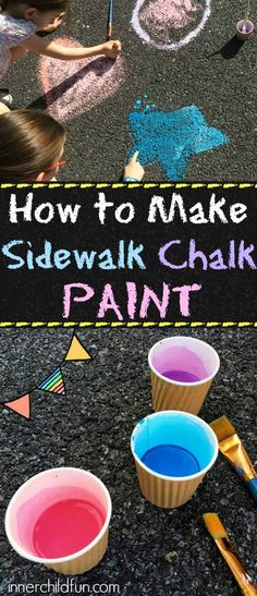 Sidewalk Chalk Paint Recipe - Love that this uses common household items you probably already have on hand!