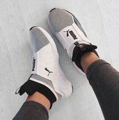 This pair of uniquely engineered sneakers designed with a textured fabric to help give it a totally elevated look while still keeping things comfy Pumas Shoes, Women's Shoes, Shoe Boots, Shoes Sneakers, Puma Sneakers, Fall Shoes, Shoes Style, Sneaker Heels, Summer Shoes
