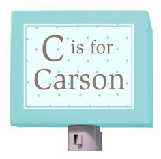 C is for Classic Night Light in Blue