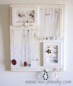 Shabby chic jewelry organizer DIY