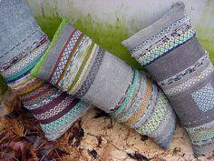 rosepath rag pillows