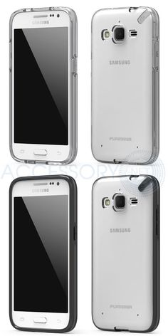 Samsung Galaxy Core Prime Clear Black Flexible Rubber Polycarbonate Slim Case #PUREGEAR