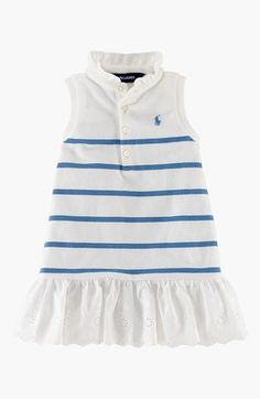 eb4d02fdd Ralph Lauren Sleeveless Polo Dress & Bloomers (Baby Girls) available at  #Nordstrom