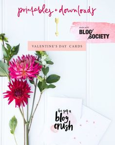 sharing the love // free printables Printable Valentines Day Cards, Printable Cards, Free Printables, Valentines Design, Valentines Diy, Blog Love, Love Is Free, Lets Celebrate, Free Blog
