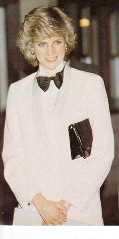 Princess Diana in a tuxedo.