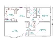 On this plan I would remove the bay window, lengthen the house to 48 or 52 feet…