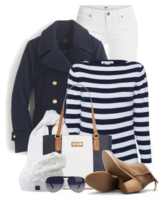 """Nautical Touch for Winter"" by brendariley-1 ❤ liked on Polyvore featuring Paige Denim, J.Crew, Woolrich, Marc Fisher, Dolce Vita, Giorgio Armani, women's clothing, women's fashion, women and female"