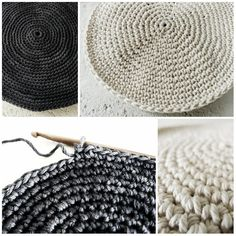 Minimalist crocheted placemats found and made by Pigtails.  Theres a pattern via the link.  Loving her muted colour choices  btw this hooker (and blog) is awesome!!