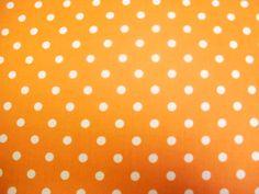 Kinderstoffen Polka Stip Orange 7 | Stoffenhuis Anja, Goedkope Stoffen Online