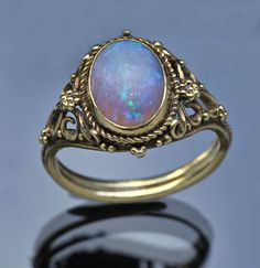 Lovely opal ring. For all you libras out there.