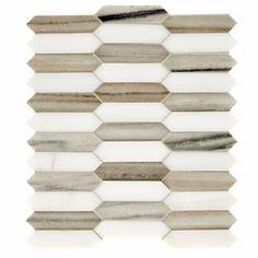 Himalayas Honed Polished Marble Lozenge Mosaic |  Lifestyle Two | Mandarin Stone