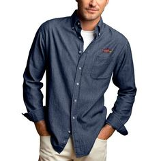 Illinois State Redbirds Hudson Button-Down Long Sleeve Shirt - Denim - $64.99