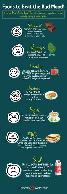 foods to beat the bad mood.