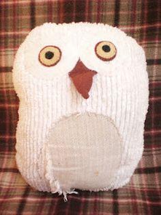 Hoot Hoot, hand made stuffed snowy owl