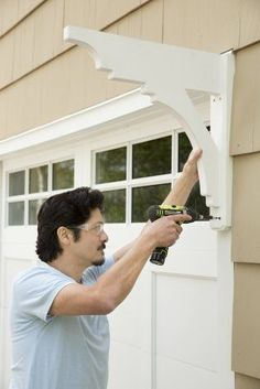 More Than 50 Mark Powers Anchors The Bracket To Attach To The Garage ! Mark Powers anchors the bracket to attach to the garage door casing ! Garage Trellis, Garage Pergola, Diy Pergola, Pergola Ideas, Cheap Pergola, Pergola Kits, Patio Ideas, Garage Organization, Garage Storage