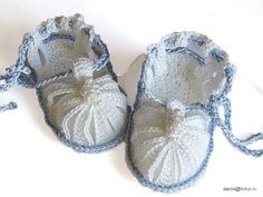 Crocheted baby boys summer sandals christening white by MiaPiccina