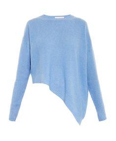 Stella McCartney Cashmere and Silk-Blend Sweater in Light Blue