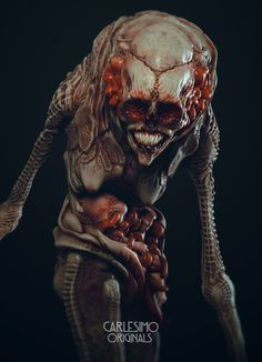 The Nanny by Franco CarlesimoPersonal project to be produce as resin Kits :) Dark Creatures, Creatures Of The Night, Fantasy Creatures, Creepy Art, Weird Art, Arte Horror, Horror Art, Creature Feature, Creature Design