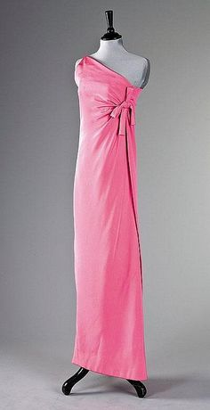 A Givenchy haute couture shocking pink silk crêpe sheath, Autumn-Winter 1966-7…