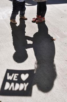 We love daddy shadow photo