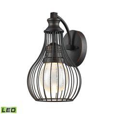 Elk Lighting Osage Weathered Charcoal LED Outdoor Wall Light | 42510/LED | Destination Lighting