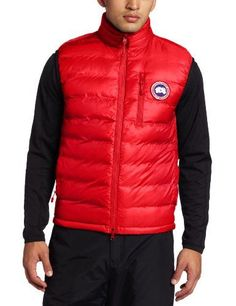 canada goose Vests Red Black