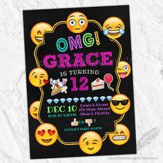 Emoji Birthday Party Invitations